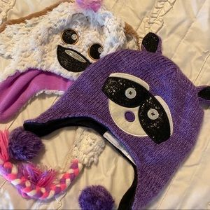 Two ADORABLE Winter Hats for Girls 8-10 Large